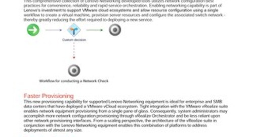 Lenovo Networking Plug-in for VMware vRealize Orchestrator