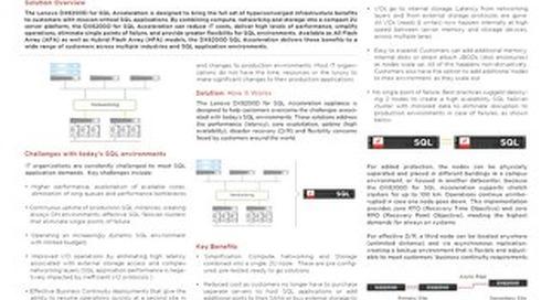 Lenovo DX8200D for SQL Acceleration