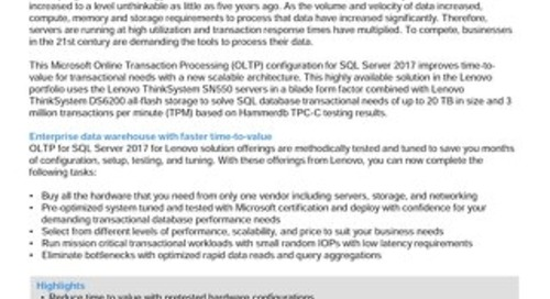 Lenovo Database Configuration for Microsoft SQL Server OLTP on Flex System with DS6200