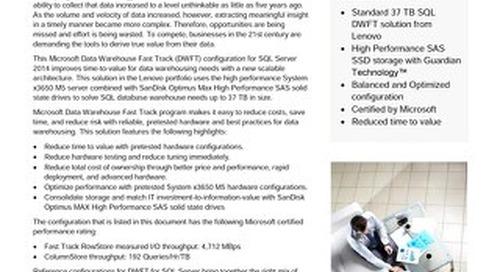 Lenovo Database Configuration for Microsoft SQL Server 2014 – 37TB