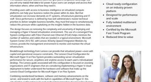 Lenovo Cloud Configuration for Microsoft Hyper-V on Flex System