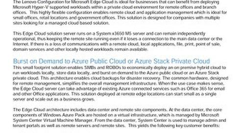 Lenovo Configuration for Microsoft Edge Cloud
