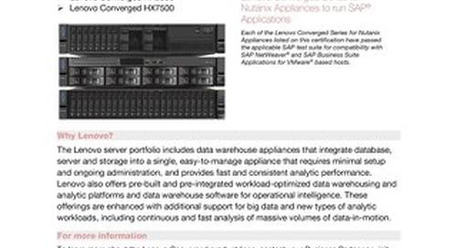 HX Series SAP Certifications