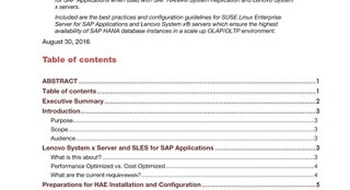 SUSE High Availability Configuration Guidelines for SAP HANA on System x Servers