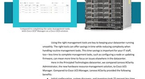Lenovo XClarity Administrator vs. Cisco UCS Manager