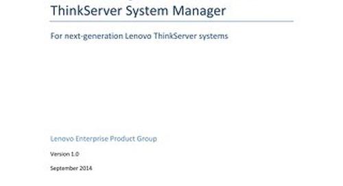 Server Management with Lenovo ThinkServer System Manager
