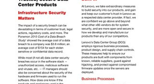 Lenovo - Building Trusted Secure Data Center Products