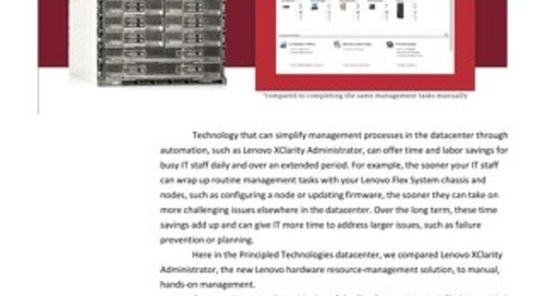 Faster and More Efficient System Management with Lenovo XClarity Administrator