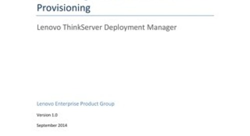 Automating Lenovo ThinkServer Provisioning