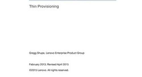 Lenovo SAN Manager Thin Provisioning