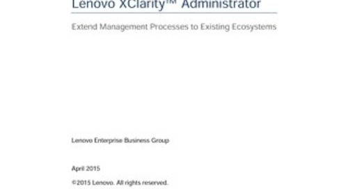Integration and Automation with Lenovo XClarity Administrator