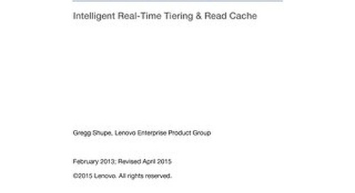 Lenovo SAN Manager Intelligent Real-Time Tiering & Read Cache