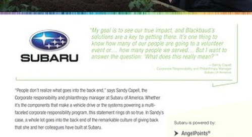 Customer Story: Subaru