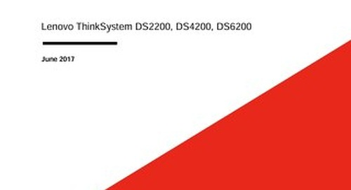 ThinkSystem DS Series Rapid RAID Rebuilds and Performance Volume LUNs User Guide