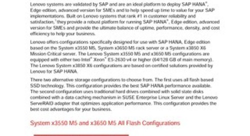 Lenovo SAP HANA Edge Configuration Guide