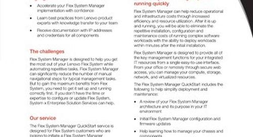 Flex System Manager Quickstart