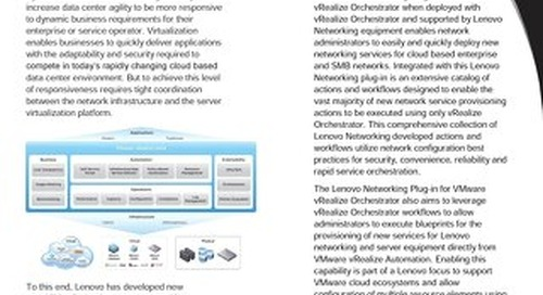 Integrated Virtualization Solutions from Lenovo Networking and VMware