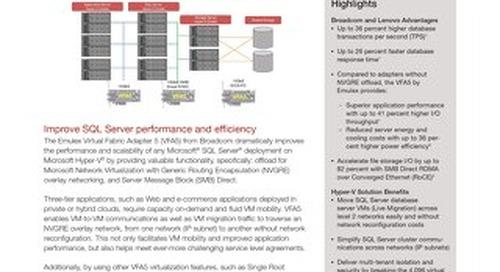 Lenovo and Emulex VFA5 Accelerate Microsoft SQL Server on Hyper-V
