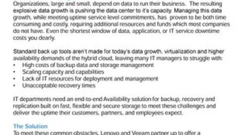 Lenovo and Veeam Solution Brief