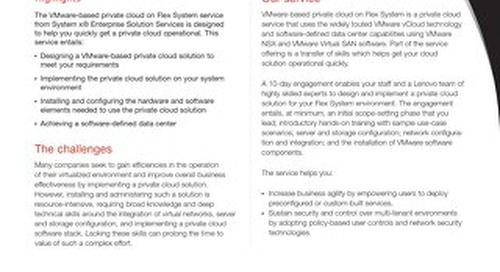 VMware-Based Private Cloud on Flex System