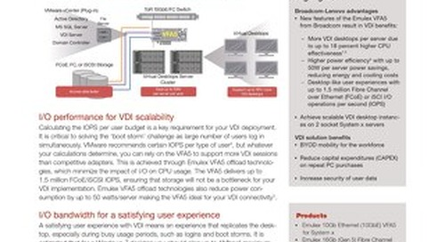 Scalable and Power Efficient Virtual Desktop Infrastructure (VDI) with Lenovo and Emulex VFA5
