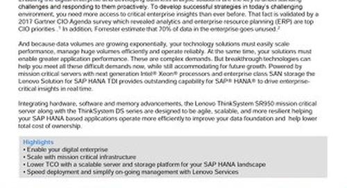 Lenovo ThinkSystem DS Series Solution  for SAP  HANA