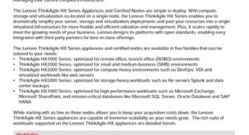 Lenovo Validated Designs for ThinkAgile HX Appliances