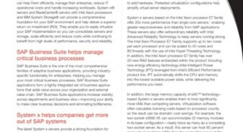 SAP Business Suite on System x and BladeCenter