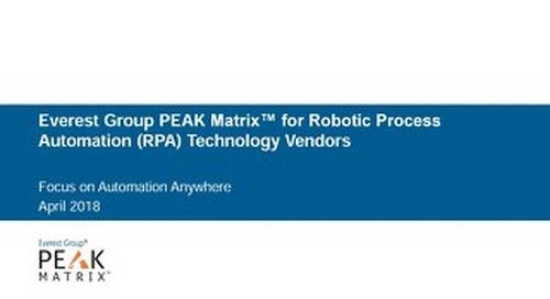 Everest Group PEAK Matrix Report 2018