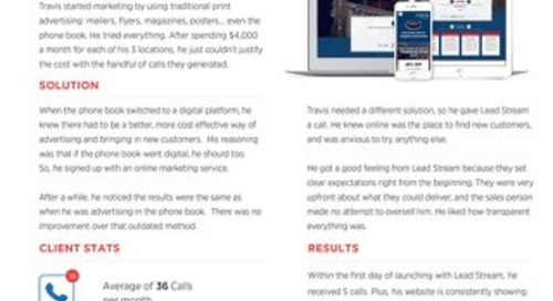 Executive Auto & Transmission Repair: Lead Stream Case Study