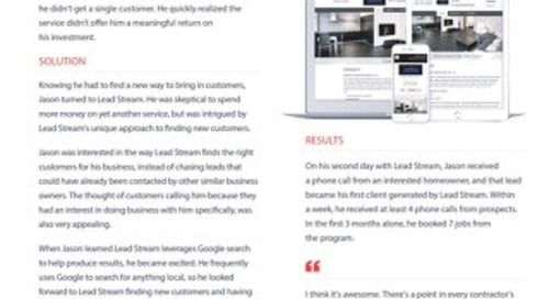 JWS Construction: Lead Stream Case Study