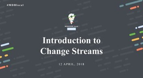 Introduction to Change Streams