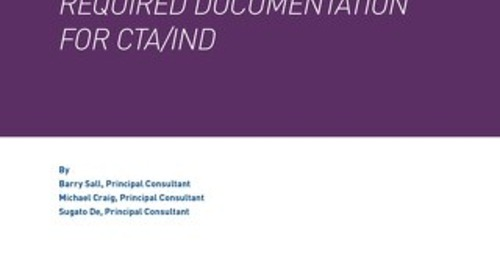 Drug Delivery Devices - Required Documentation For CTA & IND