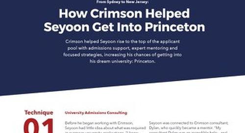 Case Study Part 2: How Crimson Helped Seyoon Ragavan
