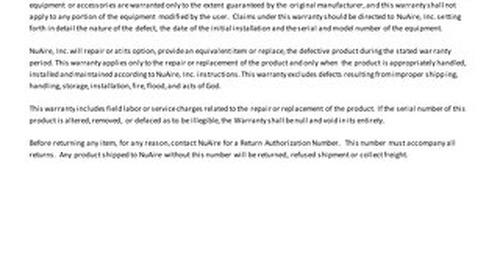 [Warranty] CO2 Incubator Standard Warranty (US & CA)