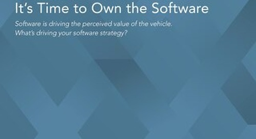 Automotive Innovators: It's Time to Own the Software