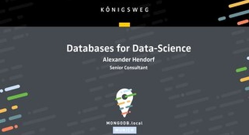 Databases For Data Science