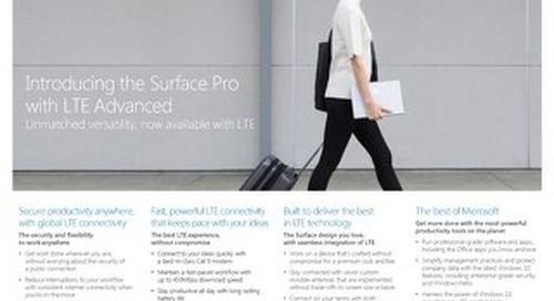 Surface Pro LTE Advaned Fact Sheet