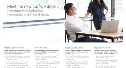 Connection Surface Book 2 13 in and 15 in