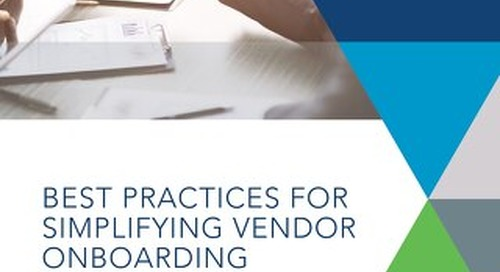 Best Practices for Simplifying Vendor Onboarding