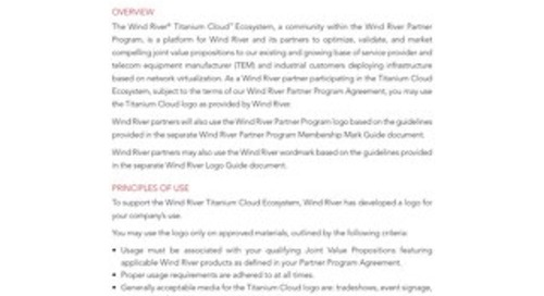 Wind River Titanium Cloud Brand Guidelines