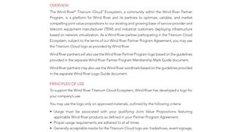 Wind River Titanium Cloud Brand Guidelines