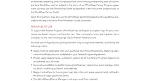 Wind River Partner Program Brand Guideline