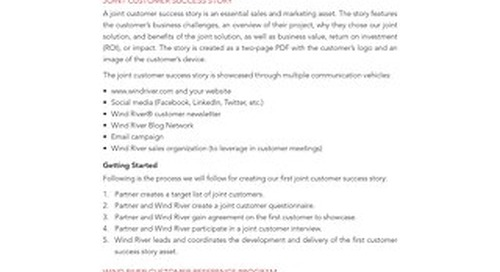 Partner Program Joint Customer Success Story Guidelines