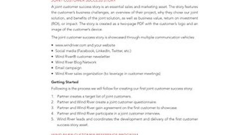 Partner Program Joint Customer Success Story Guidelines