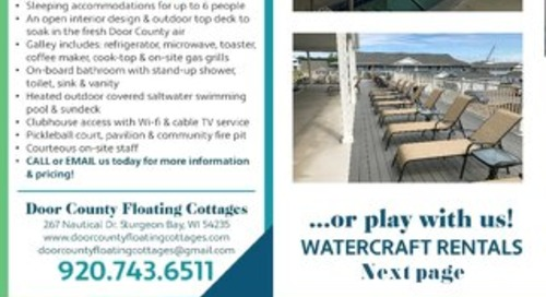 Floating Cottages & Watercraft rentals