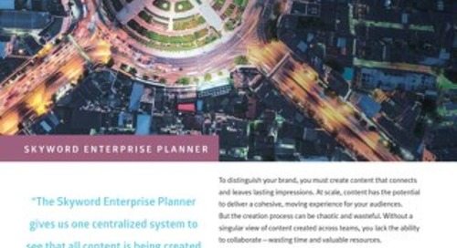 Skyword Enterprise Planner Overview