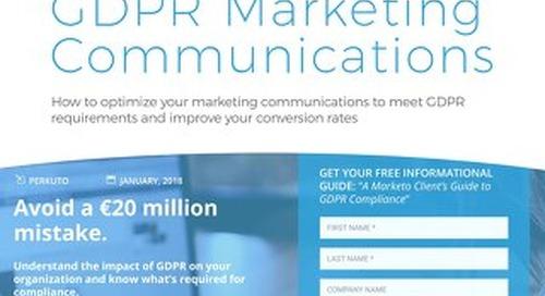 LookBook - GDPR Marketing Communications