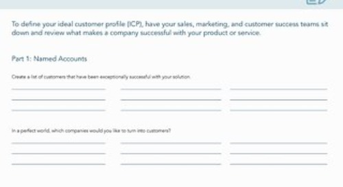 [Worksheet] Define Your Ideal Customer Profile