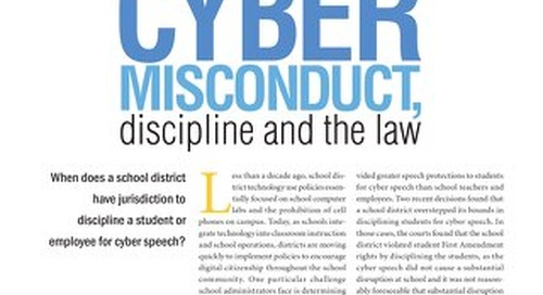 Cyber Misconduct, Discipline and the Law